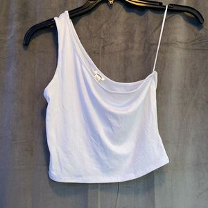Brand New One Shoulder White Top